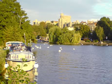 Windsor Castle from The Brocas in Eton